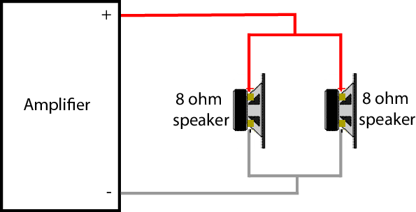 2 speakers in parallel diagram1 how to connect 2 speakers to 1 amplifier geoff the grey geek 1 ohm speaker wiring diagram at eliteediting.co