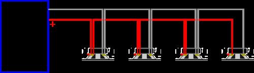 four speakers in parallel schema