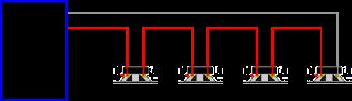 four speakers in series