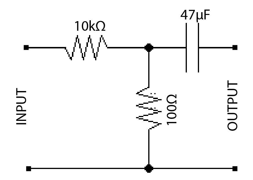 improving the msgeq7 audio input circuit