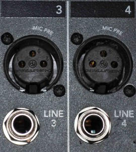 Audio level microphone level, line level