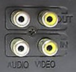 Connect a VCR mono audio